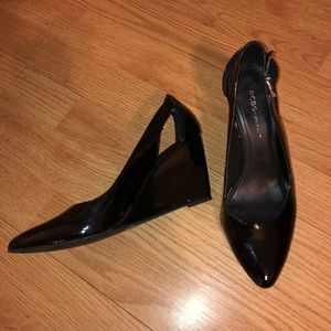 BCBGeneration patent leather cut out wedges. 8